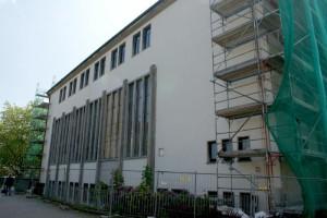 neuer Putz auf dem Gebäude