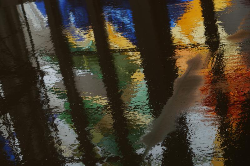 Buntglasfenster Spiegelung