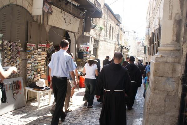 Pilger in Jerusalem